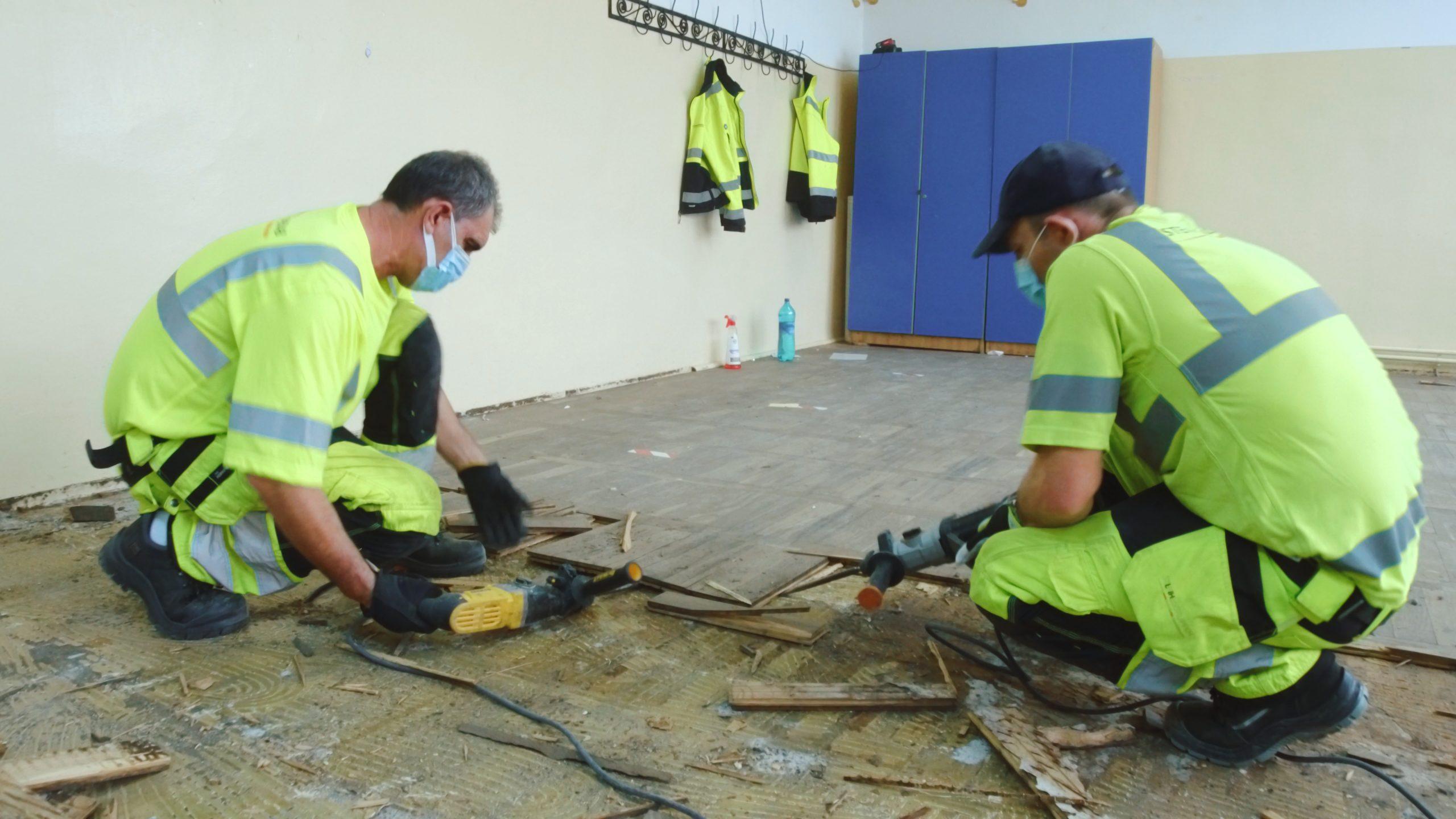 Lucrări de modernizare la Școala nr. 1